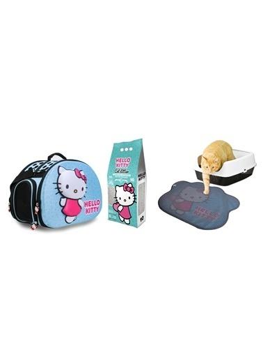 Hello Kitty HELLO KITTY 10L MARSILYA SABUNU KOKULU BENTONİT KEDİ KUMU + TAŞIMA ÇANTASI VE PASPAS Renkli